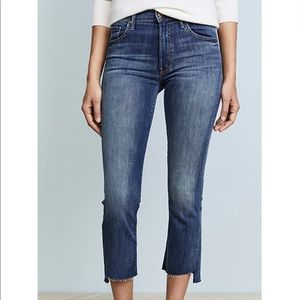 MOTHER, The Insider Crop Step Fray Jean